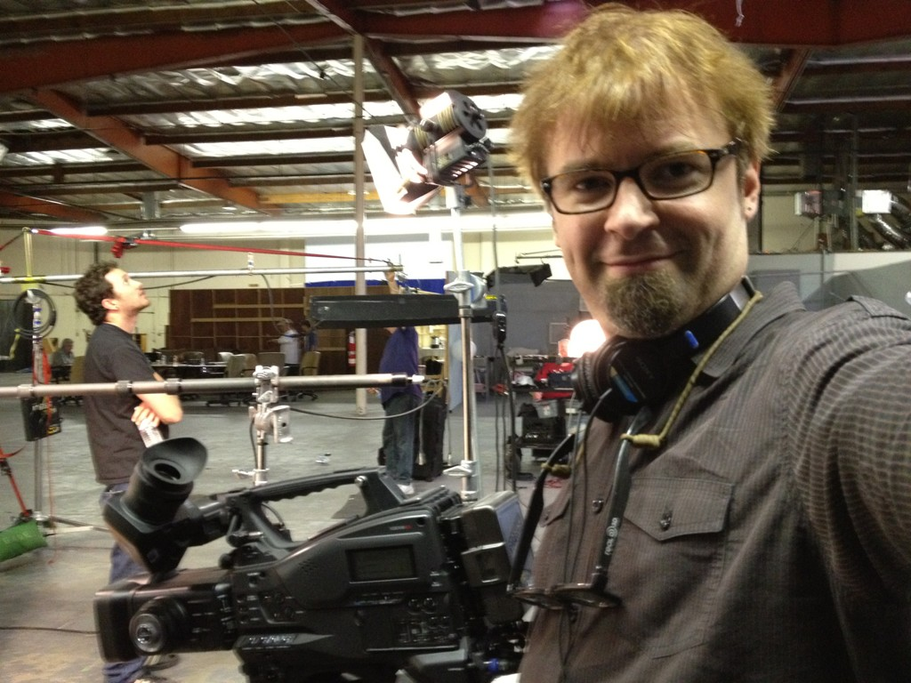 Producer David Tarleton on set